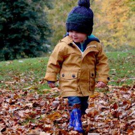 a little boy outdoors