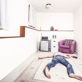 A man on the floor