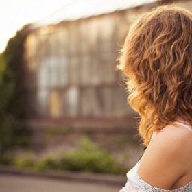 a young woman looking away