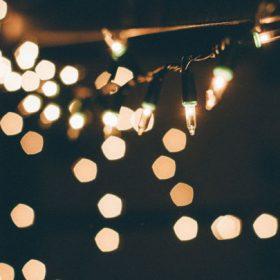 "Christmas lights - imagery for ""Christmas Eve—"" by Deborah Guzzi"