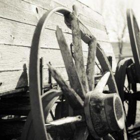 "An old farm wagon - imagery for ""Futuristic Farm"" by Linda Imbler"