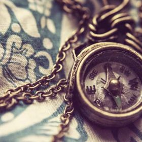 Antique compass - imagery for the work titled If the Corner of Your Eye was a Compass by Kristina England