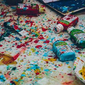 """paint swirls - imagery for """"Jackson Pollock Paints Pammy T's Daddy"""" by Tammy Robacker"""
