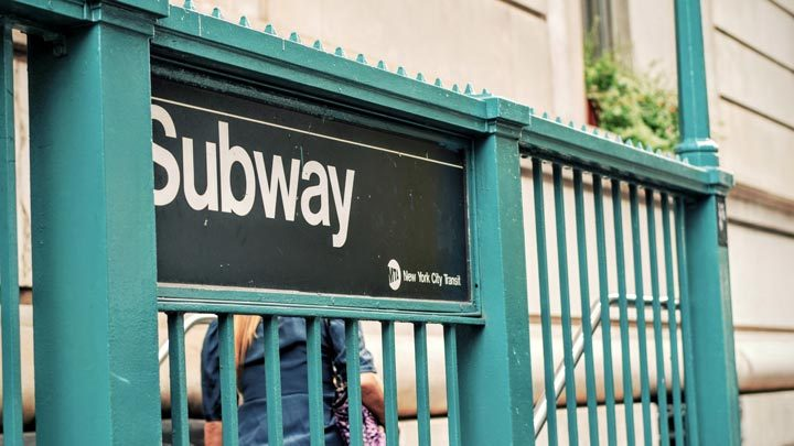 """NYC Subway entrance - imagery for """"23rd and 8th"""" by Jessica Bonder"""