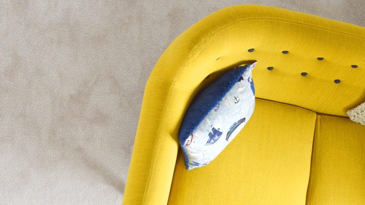 """Couch corner - imagery for """"The Detective's Chair (6)"""" by Anne M. Carson"""