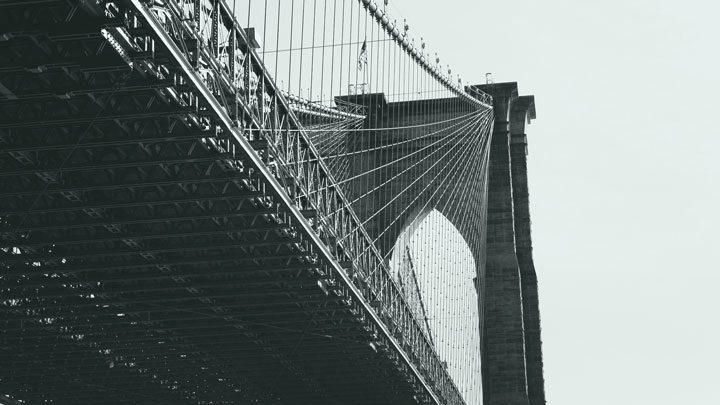 """Brooklyn bridge - image for """"Walker Evans Saves The Bridge"""" by Benjamin Goluboff"""