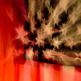 American flag, image for 45 by Cindy Hochman