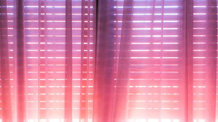 """light through sheers over blinds, image for """"In the Light, I See…"""" by Santino Prinzi"""