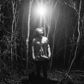 Figure in dark woods, image for Some Dissembling Required, I Admit by Richard Weaver