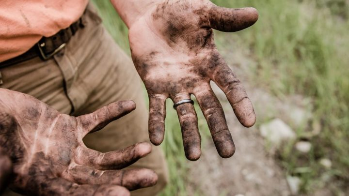 """muddy hands image for """"The Way We Should All Go"""" by Jack Caseros"""