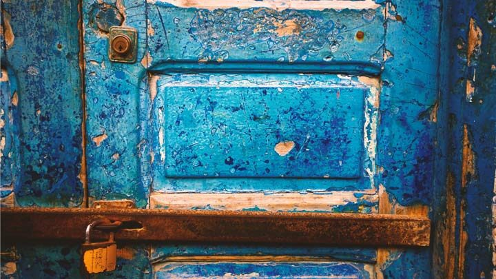 peeling rusty surfaces, image for Behold the Beauty of Effort by Elizabeth Paul